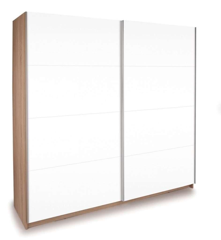 KEN Oak & Gloss White Sliding Door Wardrobe W150cm x D60cm x H195cm