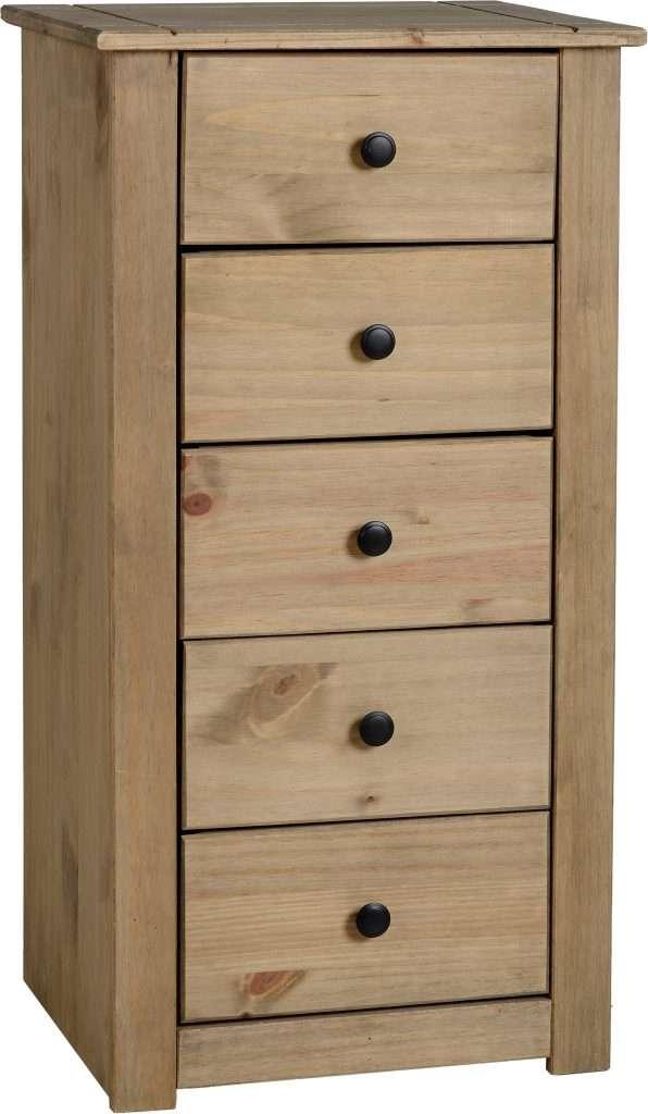 PAM Pine 5 Drawer Chest W46cm x D40cm x H89.5cm