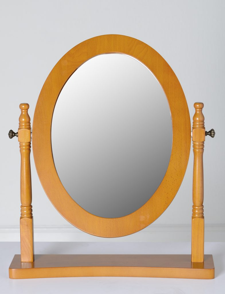 TESSA Antique Pine Dressing Table Mirror W48cm x D12cm x H57cm
