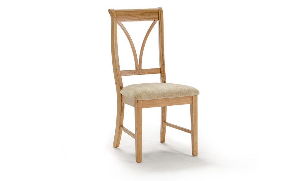 BELLINI Oak / Beige Fabric Dining Chair W46.8cm x D53.7cm x H98.7cm