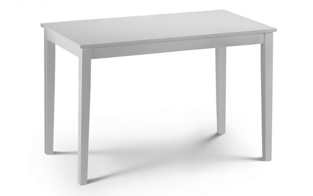 WEBB White Dining Table L114cm x W65cm x H76cm