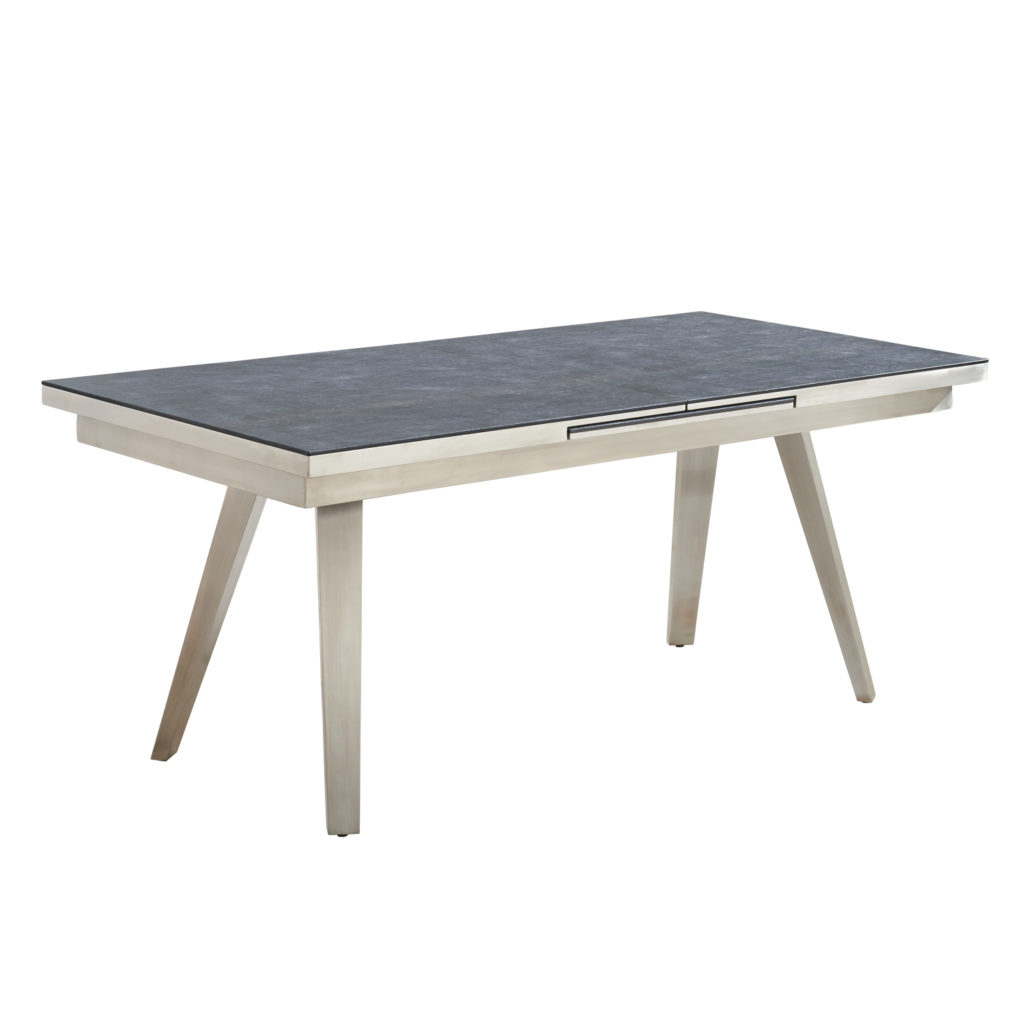 OXLEY Granite Effect Extending Dining Table L180-240cm x D100cm x H75cm