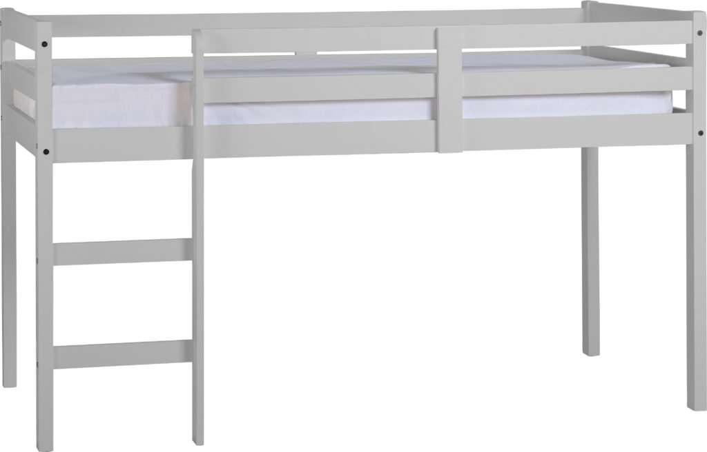 PAM 3ft Grey Pine Mid Sleeper Bed Frame W198cm x D103.5cm x H122cm
