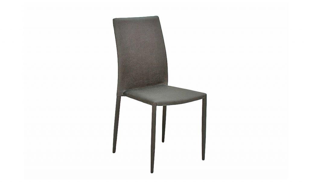 RENZO Dark Grey Fabric Dining Chairs H90cm (Price per Chair)