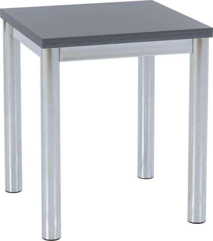 CHARM Grey Gloss Lamp Table W56cm x D56cm x H52cm