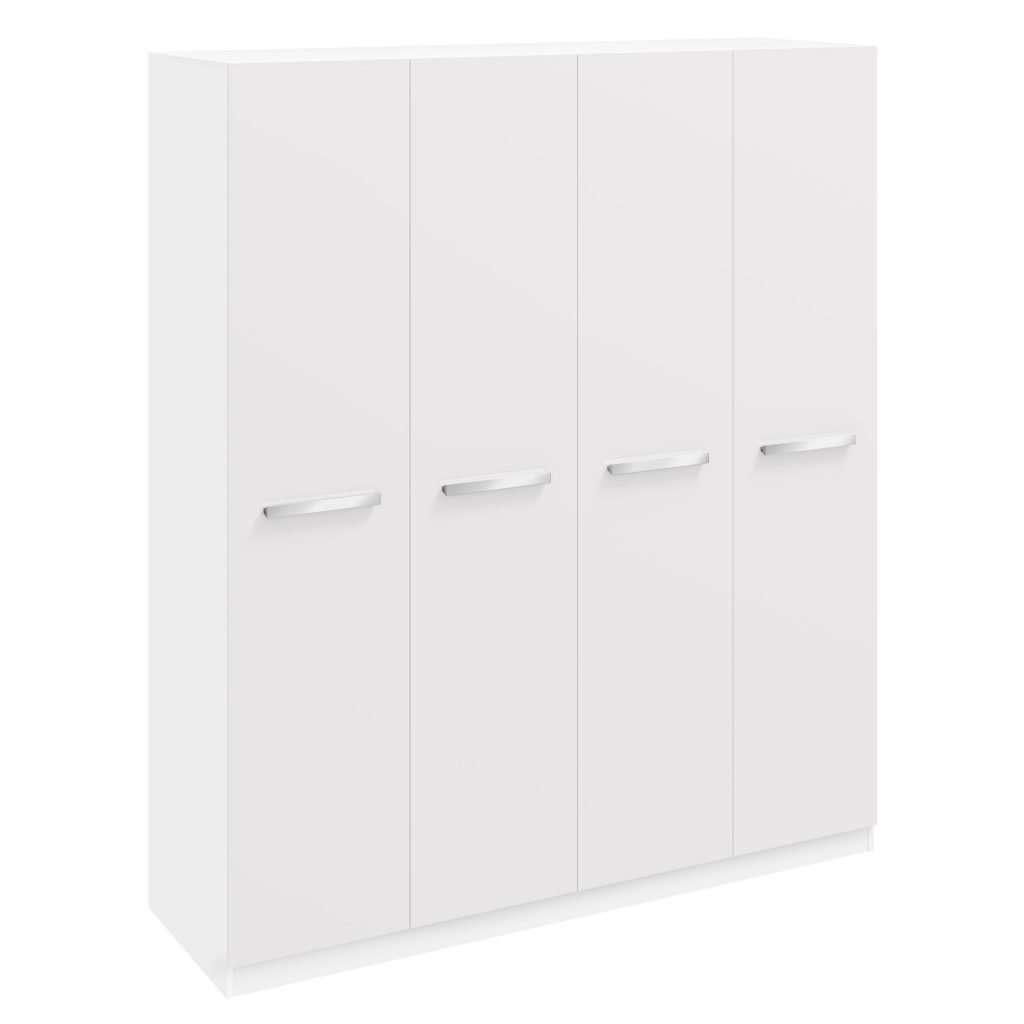 ASTRA Gloss White Vertical Build 4 Door Wardrobe W180cm x D54.5cm x H210cm