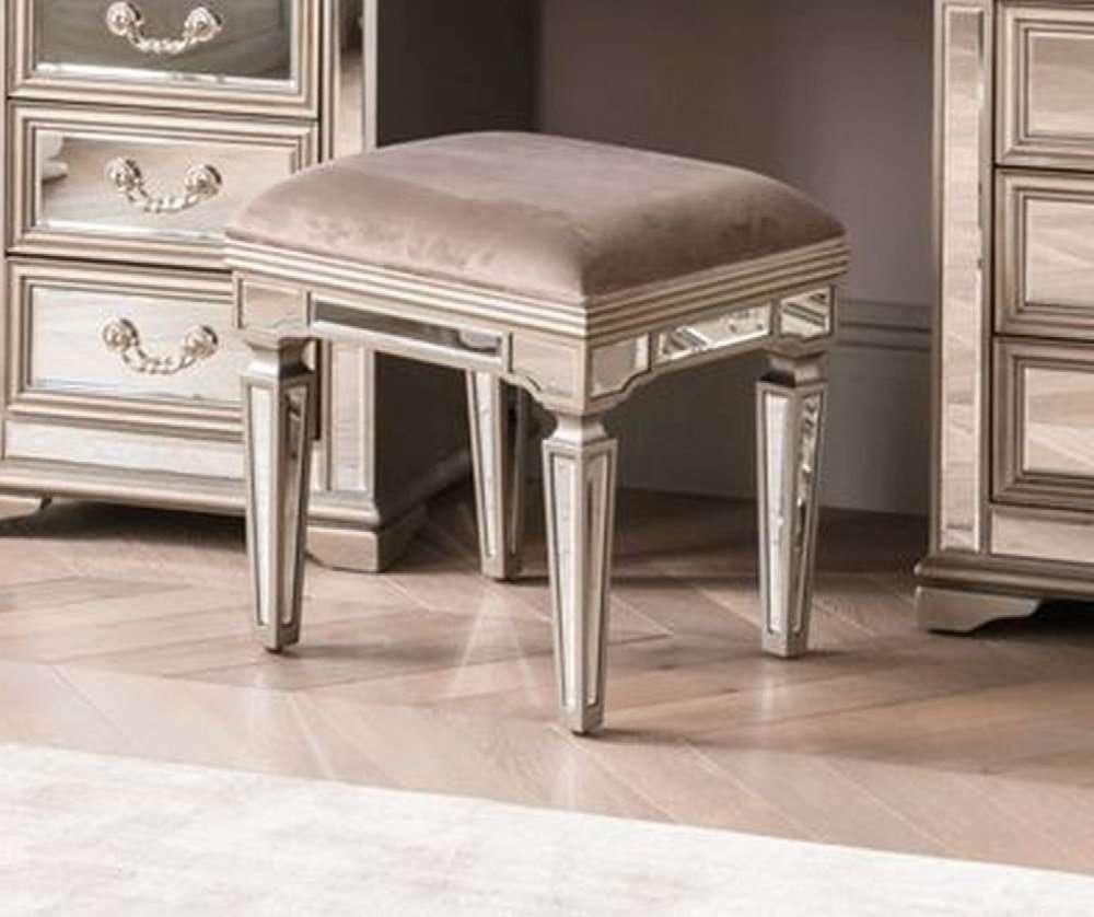 ROYAL Champagne Mirrored Dressing Table Stool W46cm x D38cm x H47cm